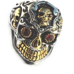 Other - Stainless Steel Biker Skull Teeth & Sides Ring